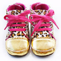 Cute Baby Shoes Girl Infant Toddler Leopard Gold Crib Shoes Walking Sneaker YYT149