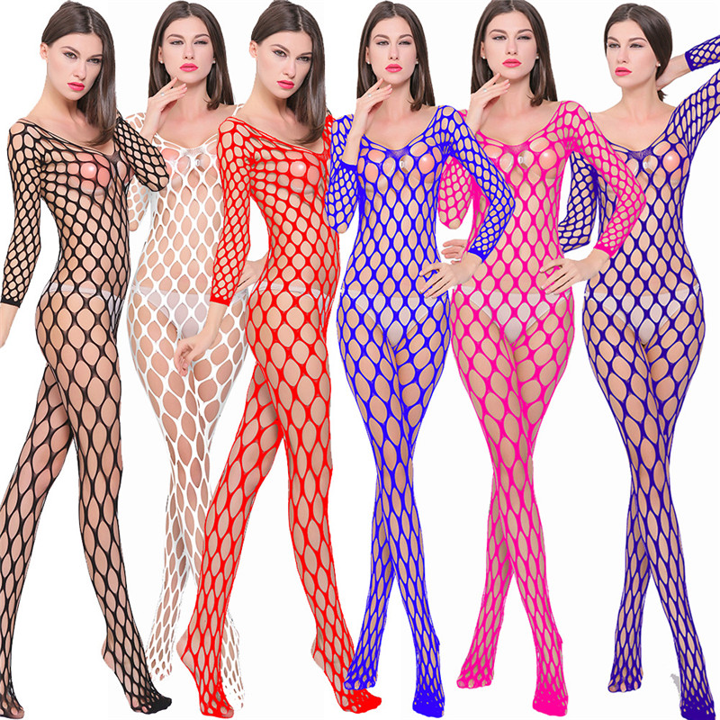 Plus Size Erotic Lingerie Sexy Mesh Pantyhose Open Crotch Sheer Body Stockings Sexy Fishnet Tights For Women Nylon Hosiery
