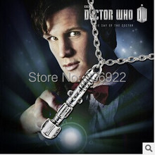 20pcs/lot Wholesale Vintage Charm Doctor Who 10th Doctor Sonic Screwdriver Charmed Interpreted Necklace,original factory supply(China)