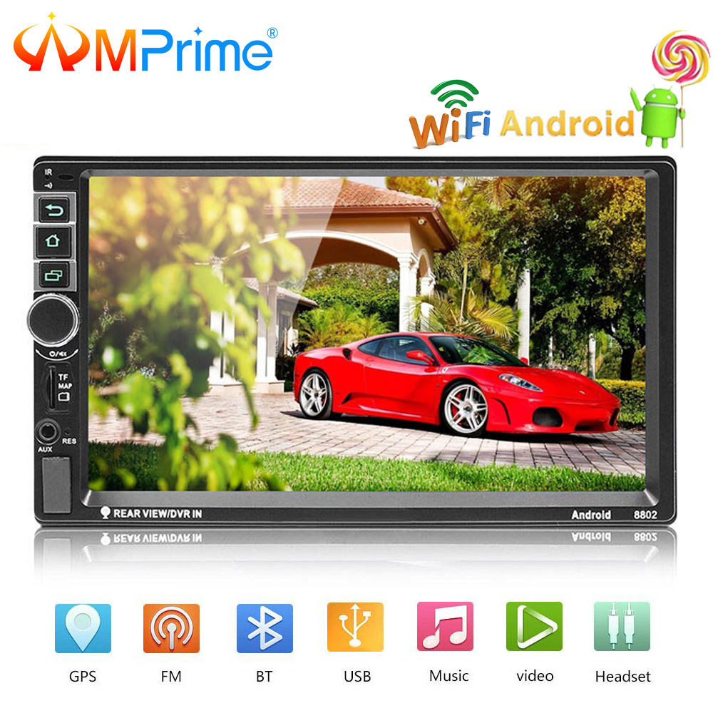 AMPrime 2din Autoradio 8802 2 din Car Radio GPS Android Navigation Car Stereo Audio MP5 Player Bluetooth Auto Radio Mirror Link