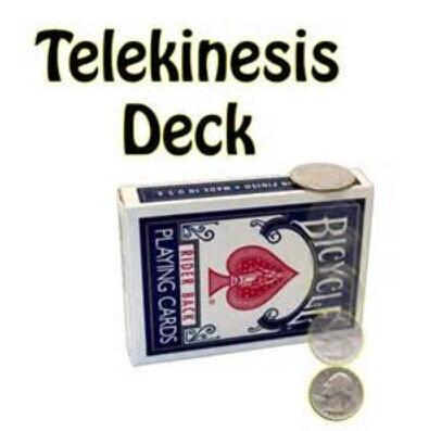 Télékinèse Deck tours de magie carte psychokinèse professionnelle Magica magicien gros plan Illusion accessoires Gimmick comédie mentalisme