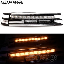 цена на Car Accessories 12V Daytime Running Light For VW Touareg 2011 2012 2013 2014 Waterproof 6000K LED DRL Fog Lamp Signal Light 2PCS