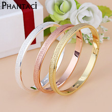 Female Frosted Love Bangle Hot Luxury Dust Cuff Bracelets Bangles Brand Buckle Bracelet For Women Gift
