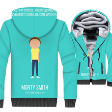 Rick and Morty 3D Print Hoodie Men Funny Hooded Sweatshirt Winter Thick Fleece Zip up Coat Plus Size 5XL Jacket Morty Streetwear недорого
