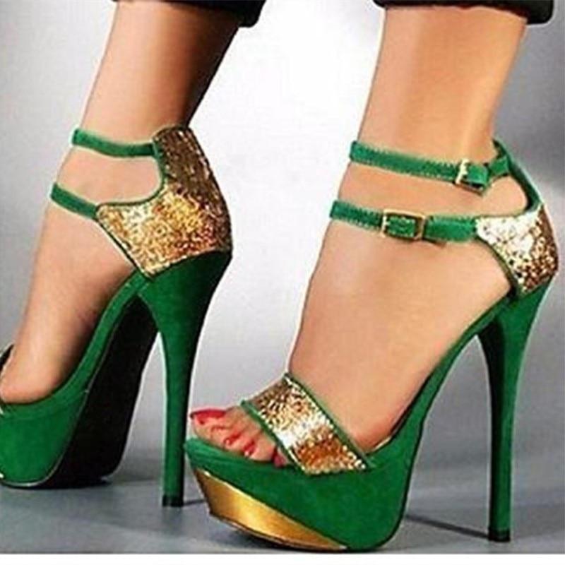 SHOFOO SHOES,Beautiful fashion free shipping, ,14.5 cm high heel sandals, women high heel sandals. SIZE:34-45 shofoo shoes sweet fashion free shipping multicolored leather 15 cm wedges sandals women s sandals size 34 45