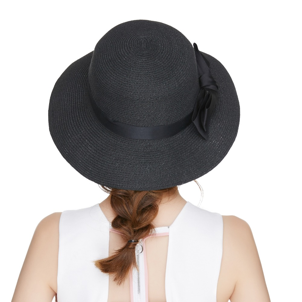469b48b8224d8 Kajeer Fedora Hats for Women church Paper Straw Ribbon Bow Accent Cloche  Bucket Bell Summer Sun Hat New Women Formal Party Cap-in Fedoras from  Apparel ...