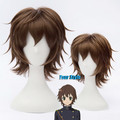 Seraph Of The End Yoichi Saotome Cosplay Wig Short Boy Male Pixie Cut Wigs Dark Brown Party Dancy Hair Perruque Peluca Hombre