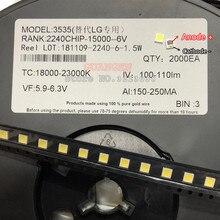 1000pcs replace FOR LG Innotek LED LED Backlight High Power LED 2W 6V 3535 Cool white LCD Backlight for TV TV Application