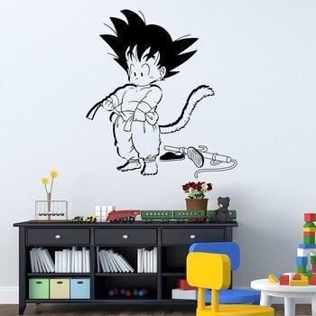 Художественный дизайн Dragon Ball Настенная Наклейка виниловая анимированная детская Гоку 3D фильм Мультфильм домашний декор DIY Наклейка на стен...