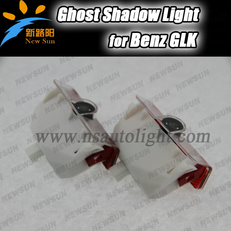 LED Door Welcome Projector lamp Led Laser Ghost Shadow 3D Logo Light for Benz GLK Class GLK260 GLK300 GLK350 2xled car door logo light laser projector ghost shadow light for mercedes benz w204 c class c180 c200 c350 c63