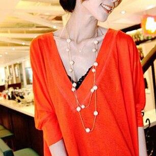 Jóia da pérola novo 2015 longo colar coreano moda mulheres acessórios de luxo/collier femme/neckless/colar/collana/gargantillas