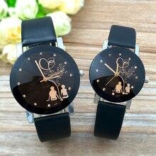 Популярные модные часы для влюбленных, мужские и женские повседневные кварцевые часы с кожаным ремешком, ЖЕНСКИЕ НАРЯДНЫЕ часы, часы для пары, подарки, Relogios Femininos