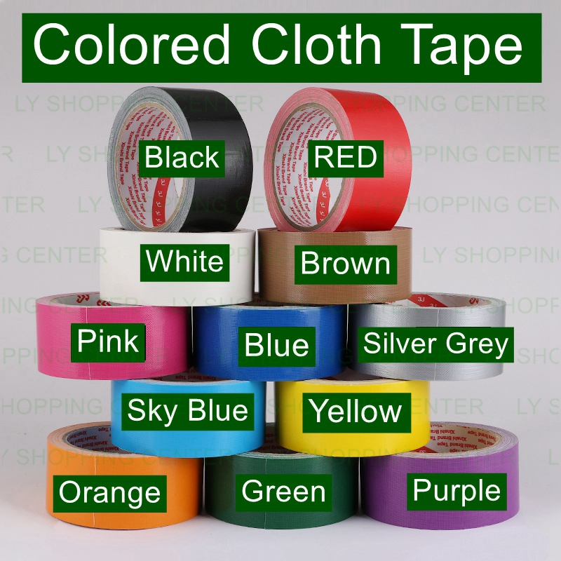 3 Rolls Width 100mm x10M ,thickness 0.28mm,12 Colors Cloth Tape,strong stickiness,Wide-range in application,What color you need?