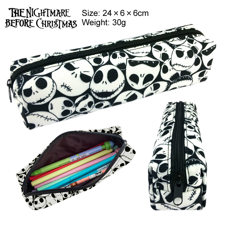 все цены на New The Nightmare Before Christmas Canvas Pencil Bag Printing Pouch Zipper Case Student Gift Wallet Bag Gift