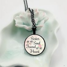 2018 New Soul Sister My Soul Sister Charm Glass Necklace, Inspiration Necklace, Soul Sister Jewelry, Soul Sister my sister page 9