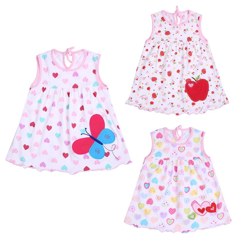 eac4b1e13 0-2T Spring Summer Infant Baby Girls Sleeveless Cotton Colorful Cute Dress  Features: The material is soft and comfortable to wear.