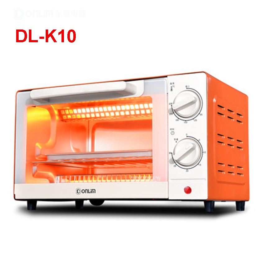 220V /50hz DL-K10 electric oven household 10 liters baking multi-functional small oven temperature control mini cake 1000W enamel interior electric oven home baking 38l large capacity multi functional intelligent temperature control easily cleaning