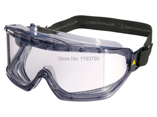 bd2d2a7aa96 Free Shipping Delta Plus Venitex Galeras Clear PVC Protective Safety Vented Goggles  Glasses Eyewear PPE 101104