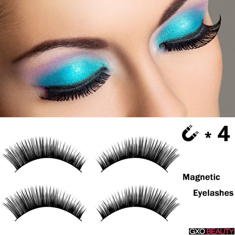 1ef957e541f GXO BEAUTY 4 Magnetic Eyelashes Extension Natural Eyelashes on magnets  Reusable 3D Magnetic Lashes Makeup Soft Easy To Wear
