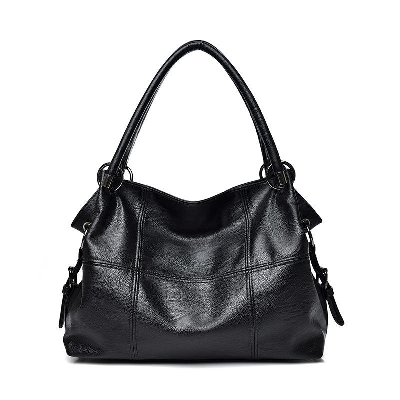 PU Leather Stitching Design Women Handbags Casual All-Match Large Capacity Shoulder Bag Daily Shopping Handbag Ladies Tote Bags