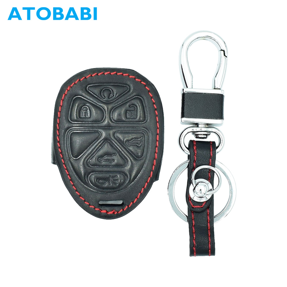 ATOBABI 6 Buttons Leather Car Key Case Keychain for GMC Yukon Chevrolet Suburban Tahoe Smart Remote Fob Shell Cover Car Styling r4 ac compressor for car chevrolet s10 blazer caprice pick up truck suburban tahoe gmc jimmy sonoma fleetwood 15 20189 88964862
