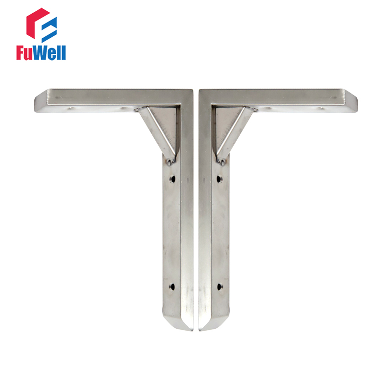 1pair(2pcs) 304Stainless Steel Triangle Bracket 6/8/10/12/14inch Self Support Frame Bracket Triangular Table Shelf Bracket