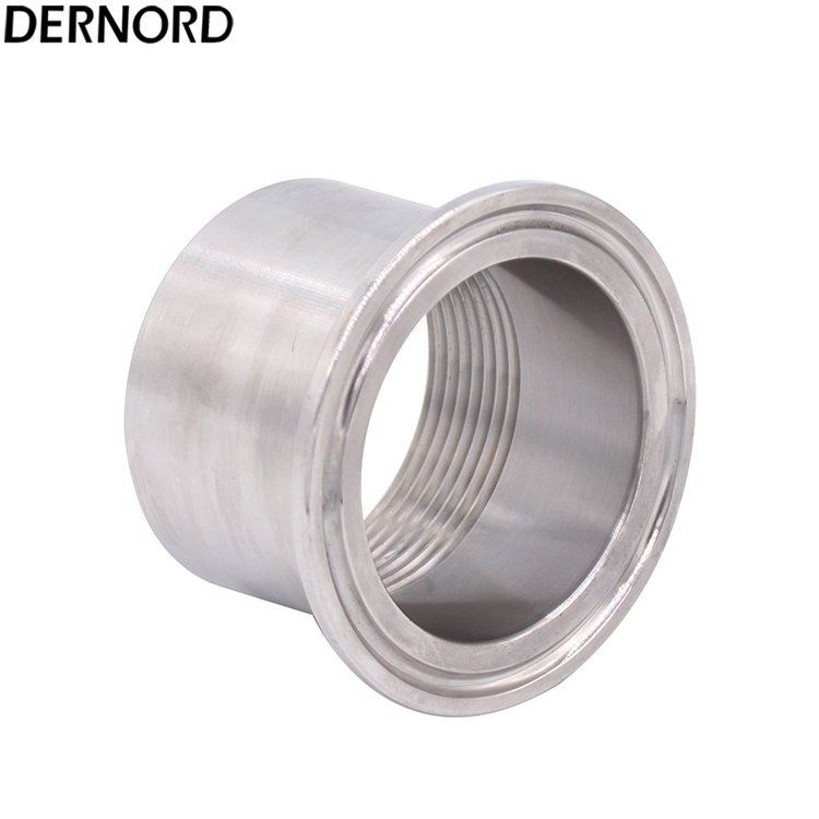 DERNORD 1-1/2 DN40 NPT Sanitary Female Threaded Pipe Fitting to 2'' TRI CLAMP 64mm Ferrule OD sanitary female threaded ferrule pipe fittings tri clamp ptfe or silicone gasket stainless steel ss304