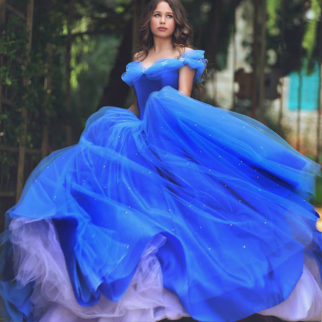 Nova Princesa vestido de Baile Vestidos de Baile Fora Do Ombro Tule Plissado Frisado Vestidos De Festa Até O Chão Elegante Da Disney Partido Vestido