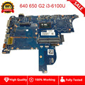 Для hp ProBook 640 G2 650 G2 640-g2 650-G2 Материнская плата ноутбука i3-6100U материнская плата 840714-601 840714-601 840714-501 полностью протестирована