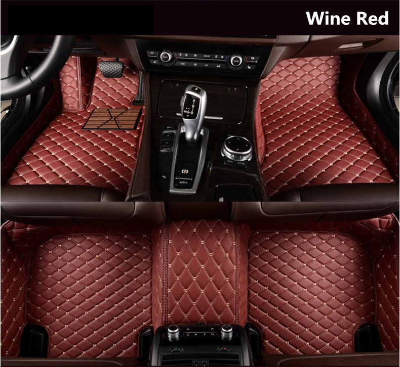 Auto Floor Mats For Peugeot 308 2016.2017.2018 Foot Carpets Step Mats High Quality Embroidery Leather