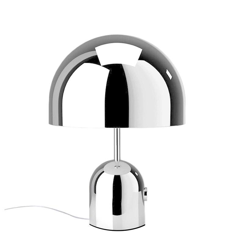 Nordic настольная лампа металлизированные Творческий Настольная лампа в стиле АР-деко спальня диван ночники гостиная исследование Chrome цвет з...