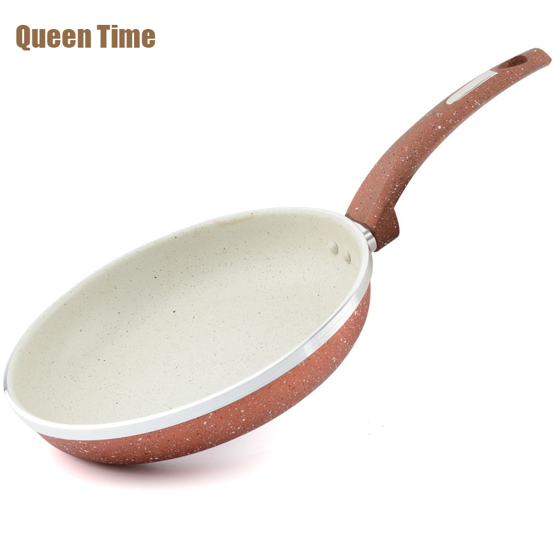 QueenTime Professional Cooking Pan 9.5 Health Griddles & Grill Pans Aluminum Alloy Non-stick Gas Cooker cooking Oven&Dishwasher