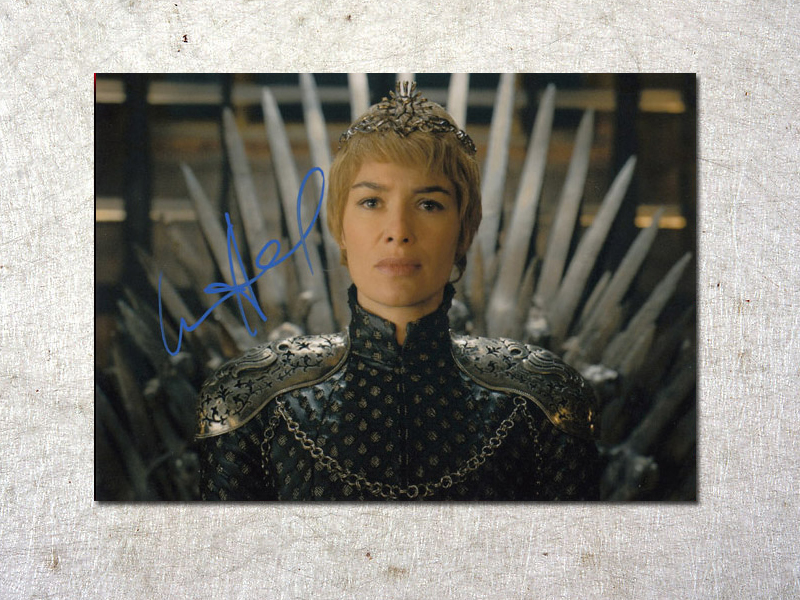 signed Lena Headey Game of Thrones autographed original photo 7 inches free shipping  092017C signed kobe bryant autographed original photo 7 inches free shipping 08201709