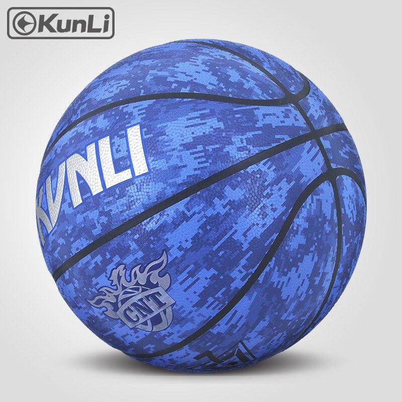 orijinal KUNLI basketbol topu KLBA201 BLUE Size7 size6 size5 Marka - Komanda idman növləri - Fotoqrafiya 3
