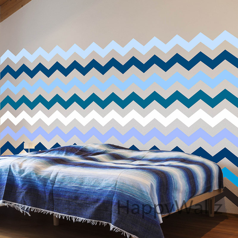 Diy Chevron Stripes Wall Stickers Decorative Chevron Wall Decal