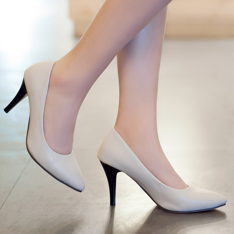 Wedding Shoes Zapatos Mujer Tacon Sale Big Size 31-43 New Brand Bottom Shoes High Heels Pumps Candy Colors Pointed Toe Hot 132