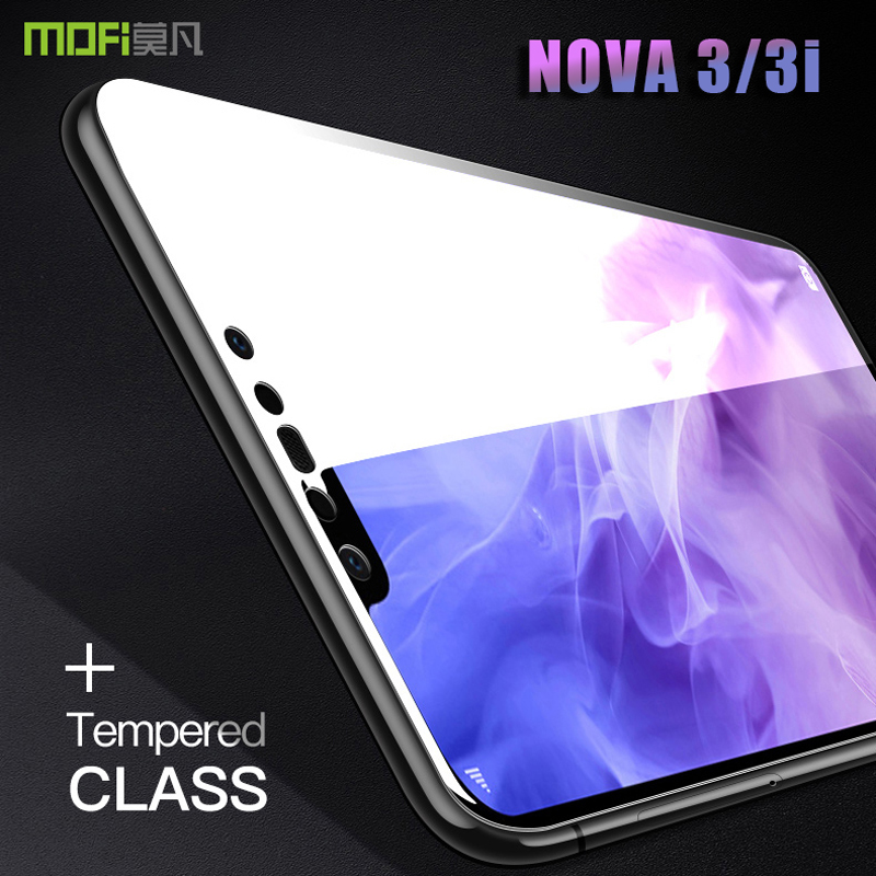 for huawei nova 3i tempered glass film MOFI for huawei nova 3 Full Cover screen protector glass nova 3/3i clear glass 2.5D 6.3''