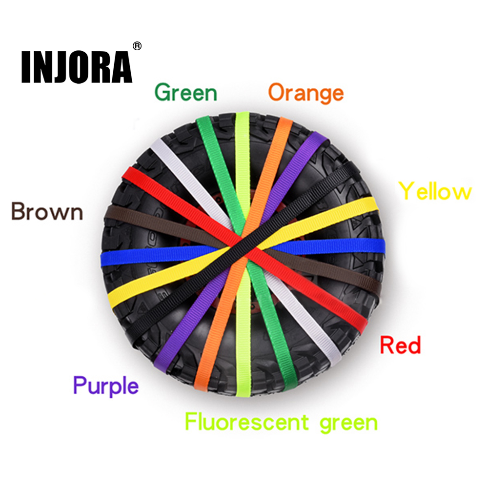 INJORA 1Pcs RC Car Spare Tire Wheel Anti-Slip Belt Wheel Tyre Strap For Axial SCX10 RR10 90050 TRAXXAS UDR LOSI