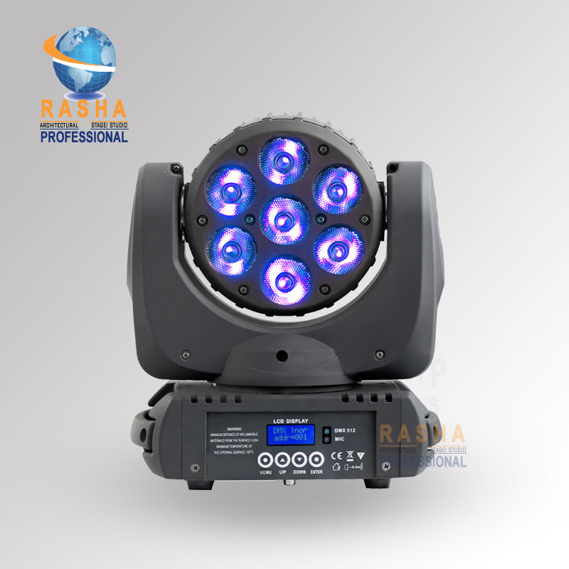 Hot Sale 7*12W RGBW C-ree RGBW 4in1 LED Moving Head Beam Super Sharpy Beam Light With LCD Display,Powercon 110-240V