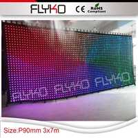 Free shipping Matrix LED RGB DJ Party Garden Star Video Curtain Backdrop for Home Garden Birthday Party Christmas