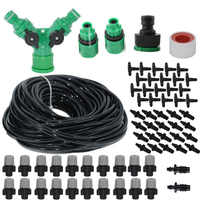 High Quality Spray Nozzle 20M Misting Cooling System For Outdoor Patio Garden Greenhouse Irrigation Spray Kit Set Garden Tools