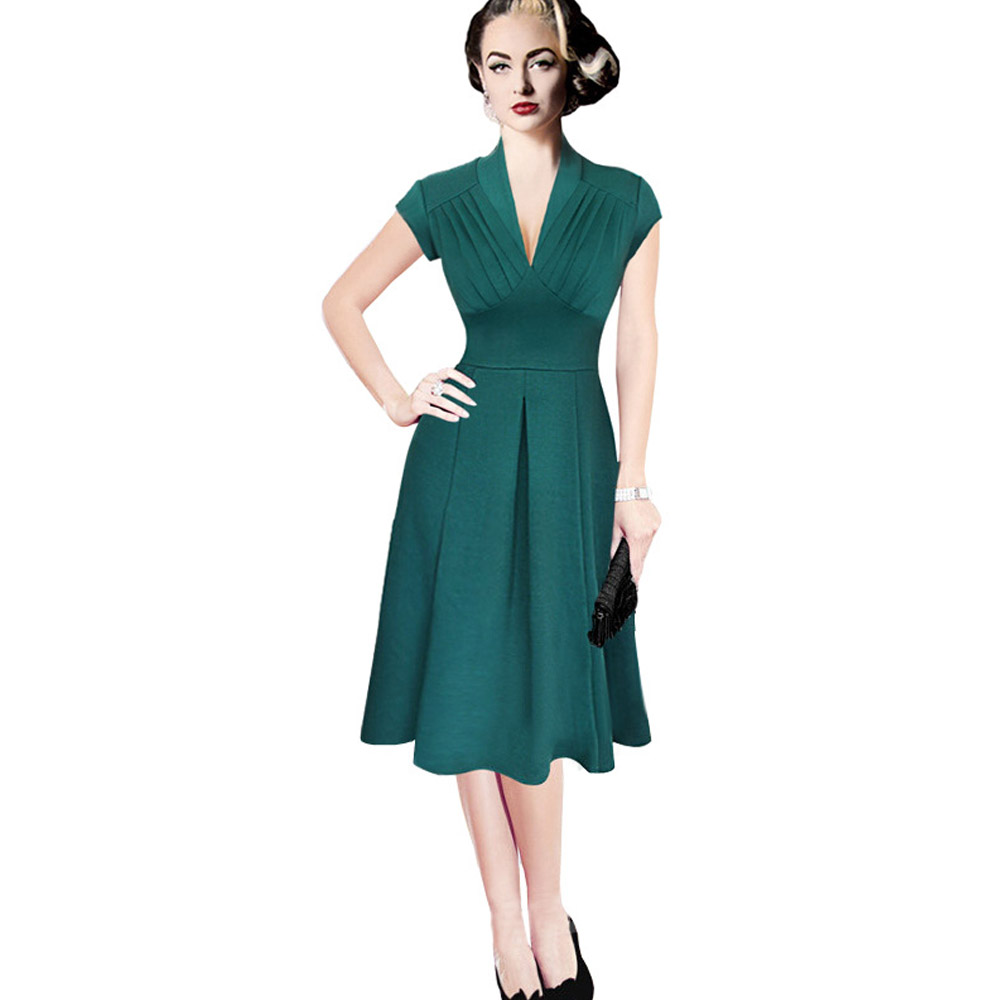 New Arrival Summer Dress Free Shipping Herpburn Style 1950's Vintage Retro Dress Women Fashion A Line Dress