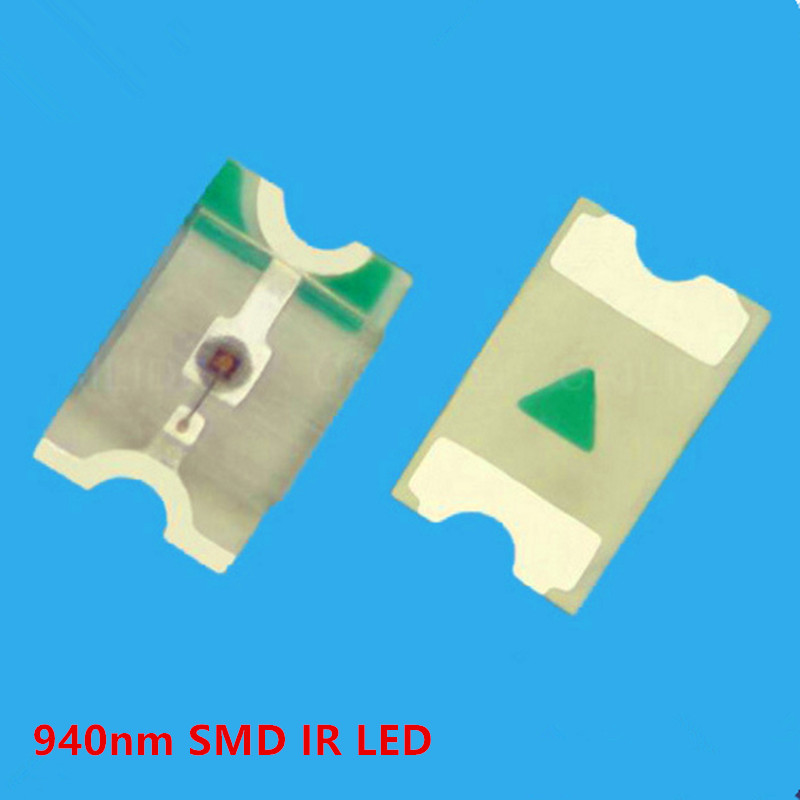 10 Pcs/lot SMD Infrared IR LED 940nm Invisible Emitting Ligh 120 Degrees 2*1.25mm For Security Camera Printer Tablet Smart Home
