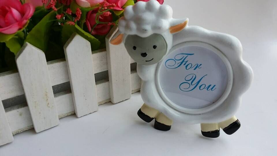 100pcs/Lot+Cute Baby Sheep Photo Frame Picture Frames/Card Holder ...
