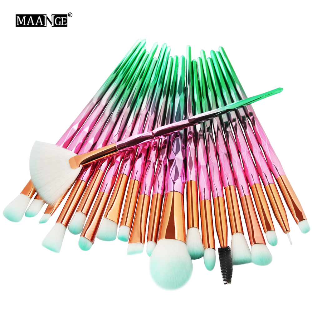MAANGE 7-20Pcs Diamond Makeup Brushes Set Powder Foundation Blush Blending Eye shadow Lip Cosmetic Beauty Make Up Brush Tool Kit 25 20pcs makeup brushes beauty tool set foundation blending blush eye shadow brow lash fan lip face make up brush kabuki kit