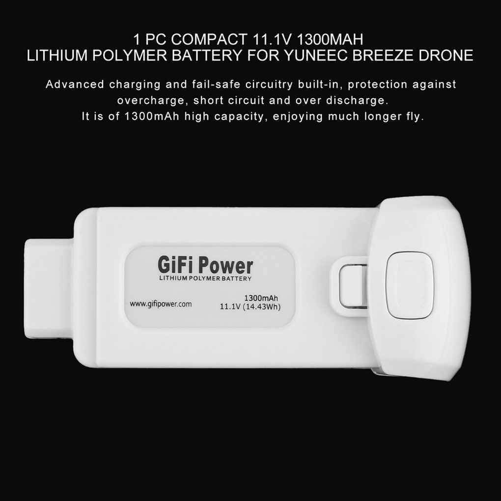 2 x 1700mAh Yuneec Breeze Battery Akku 11.1V 3S LiPo Battery For Yuneec Breeze