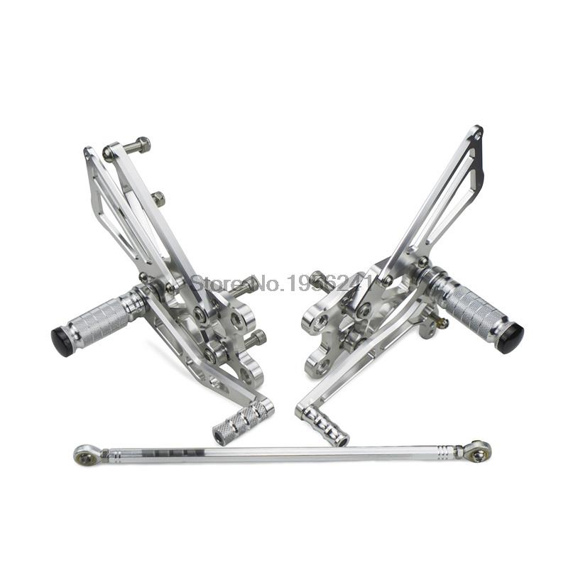 Silver Billet Adjustable FootPeg Racing Rearset Rear Set