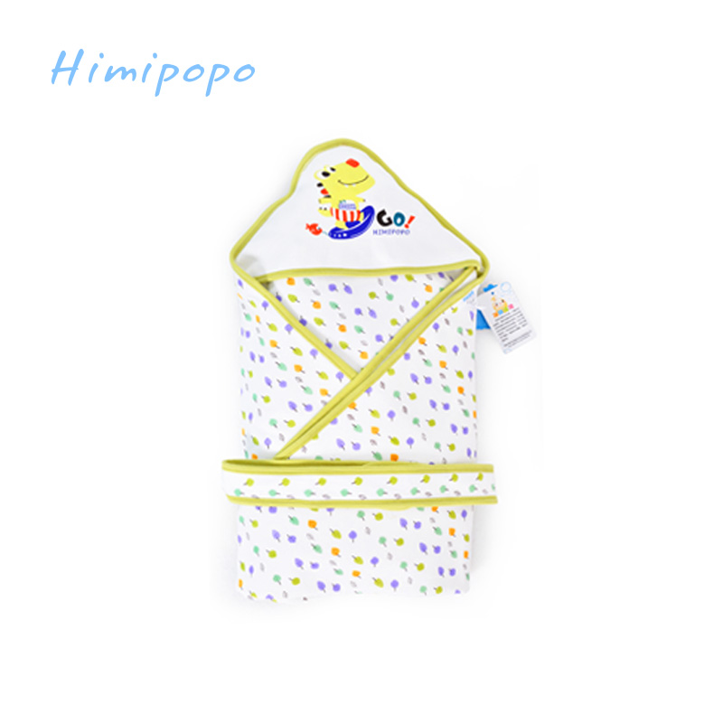 HIMIPOPO Infant Baby Cotton Bedding Sets Cattle Blanket Envelope Newborn Wrap Towel Cartoon Baby Blanket Swaddling comfortable baby oversized sleeping bags swaddling cotton cocoon wrap as envelope for newborn blanket