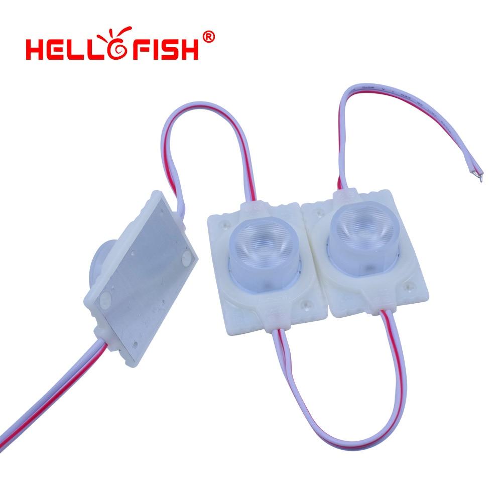 Hello Fish 20pcs DC12V High Power Modules Advertising Modules Backlight Modules Luminous Angle Of 60 Degrees IP68 Waterproof