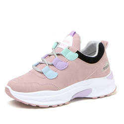 2018 Winter Women Sneakers Casual Suede White Women Shoes Lace Up Woman Platform Sneakers Trainers Shoes Chaussures Femme